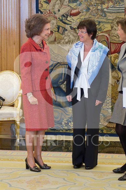 310111.MC.Reina Sofia.Dª Consuelo Crespo, Presidenta Del Comite Espanol De Unicef, Y Sra. Françoise Gruloos-Ackermans, Representante De Unicef En Haití .310111.Pal Zarzuela. madrid. ..