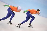 SPEEDSKATING: SOCHI: Adler Arena, 21-03-2013, Training, Ronald Mulder (NED), Jan Smeekens (NED), © Martin de Jong