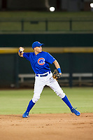 AZL Cubs second baseman Fidel Mejia (76) on defense against the AZL Mariners on August 4, 2017 at Sloan Park in Mesa, Arizona. AZL Cubs defeated the AZL Mariners 5-3. (Zachary Lucy/Four Seam Images)