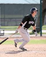 Lars Davis, Colorado Rockies 2010 minor league spring training..Photo by:  Bill Mitchell/Four Seam Images.