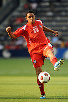 Eybir Bonaga midfielder Panama in action...Canada and Panama played to a 1-1 tie in Gold Cup play at LIVESTRONG Sporting Park. Kansas City Kansas.