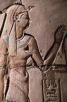 Afrique/Egypte/Env d'Assouan: Le temple de Kôm Ombo - Détail intérieur