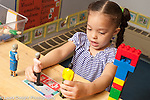 Education Preschool 3 year olds girl playing with dolls (human figures) talking