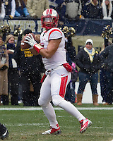Rutgers quarterback Gary Nova. The Pitt Panthers defeat the Rutgers Scarlet Knights 27-6 on Saturday, November 24, 2012 at Heinz Field , Pittsburgh, PA.