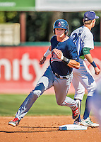 5 September 2016: Lowell Spinners infielder Bobby Dalbec in action against the Vermont Lake Monsters at Centennial Field in Burlington, Vermont. The Monsters defeated the Spinners 9-5 to close out their 2016 NY Penn League season. Mandatory Credit: Ed Wolfstein Photo *** RAW (NEF) Image File Available ***