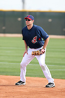 Wes Hodges. Cleveland Indians spring training workouts at their complex in Goodyear, AZ - 03/06/2010.Photo by:  Bill Mitchell/Four Seam Images.