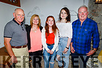 Niamh O'Regan from Tralee celebrating her 21st birthday on Saturday. L to r: Kevin Kerins, Christina Donovan, Niamh O'Regan, Amy Kerins and Pat Donovan.