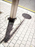 "Pole's shadow<br /> From ""Color Blind"" series. Miami, 2007"
