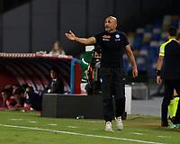 26th September 2021; Maradona Stadium, Naples, Italy; Serie A football, Napoli versus Cagliari :  Luciano Spalletti coach of Napoli