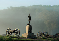 Devil's Den monument, Gettysburg National Military Park, Pennsylvania, USA