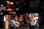 The Village Pub. The Three Chimneys, Biddenden, Kent. England. 1990s 1991