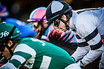 Joe Talamo rides in the Bayakoa Stakes on December 07, 2013 at Betfair Hollywood Park in Inglewood, California .(Alex Evers/ Eclipse Sportswire)