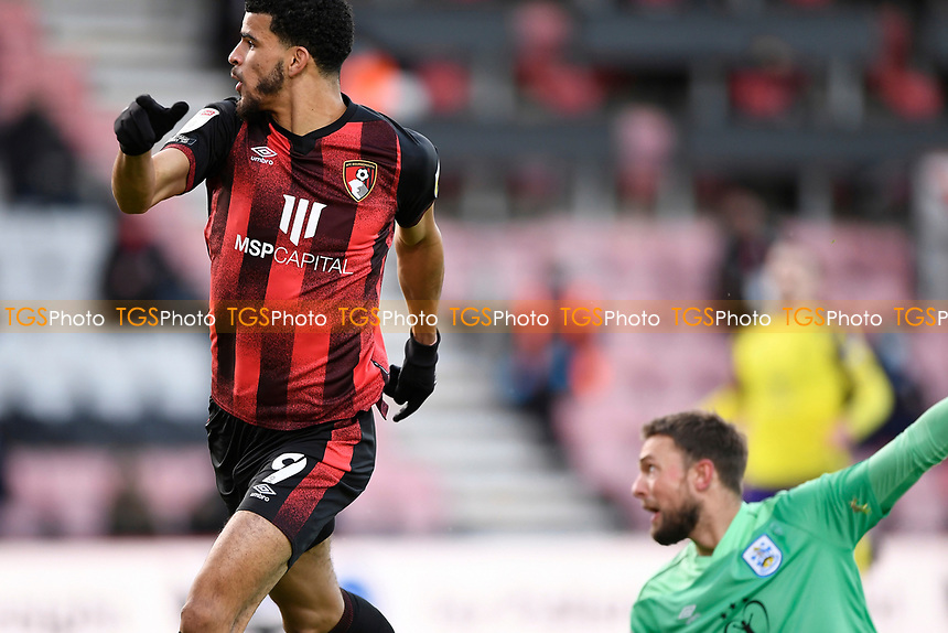 Dominic Solanke of AFC Bournemouth watches the ball hit the net for the first goal during AFC Bournemouth vs Huddersfield Town, Sky Bet EFL Championship Football at the Vitality Stadium on 12th December 2020