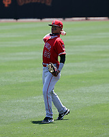 Adrian Placencia - Los Angeles Angels 2021 spring training (Bill Mitchell)