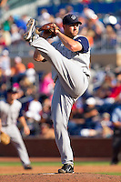 Relief pitcher Brian Omogrosso #37 of the Charlotte Knights in action against the Durham Bulls at Durham Bulls Athletic Park on August 28, 2011 in Durham, North Carolina.   (Brian Westerholt / Four Seam Images)