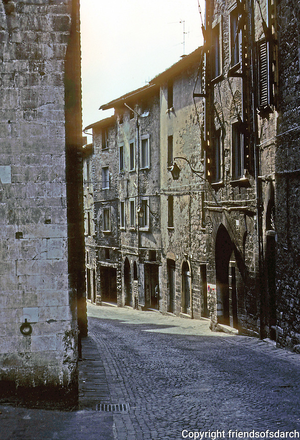 Italy: Gubbio--Via Dei Consoli, more or less the main street. Photo '83.