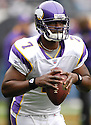 TAVARIS JACKSON, of the Minnesota Vikings, in action during the Vikings games against the Chicago Bears, in Chicago, IL on October 14, 2007.  The Vikings won the game 34-31...........