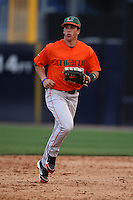 March 2, 2010:  Outfielder Nathan Melendres of the Miami Hurricanes during a game at Legends Field in Tampa, FL.  Photo By Mike Janes/Four Seam Images