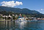 Oesterreich, Kaernten, Millstaetter See, Millstatt: vom Wasser aus gesehen | Austria, Carinthia, Lake Millstatt, Millstatt: seaside view
