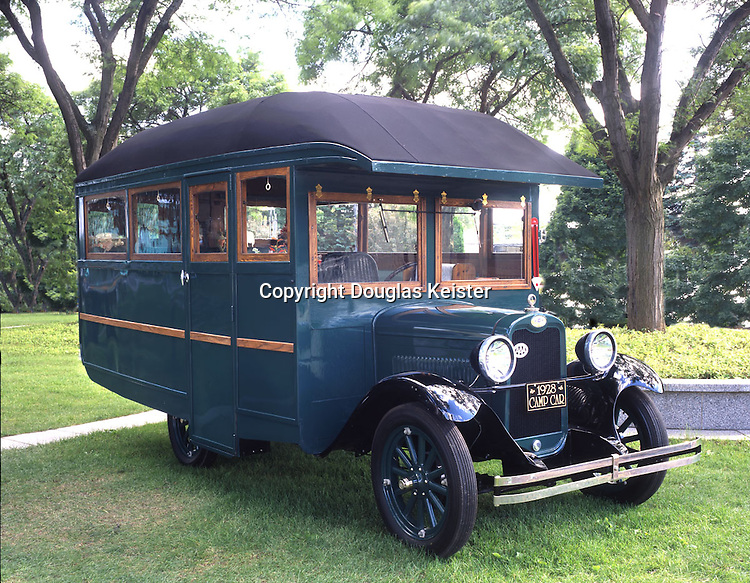 """Like most house cars of the era, this 1928 Chevrolet House Car is personalized for the owner. This house car's evolution began in 1928 when Clarence Stimpson, an engineer residing in Michigan City, Michigan, purchased a 1928 Chevrolet chassis. Stimpson drew up plans for the interior and exterior woodwork and delivered his drawings and the chassis to the Zagelmeyer Auto Camp Company in Bay City, Michigan. <br /><br />Zagelmeyer manufactured fold-up camping trailers under the Zagelmeyer De Luxe Auto Camp Trailer name as well as their specialty, the Zagelmeyer Kamper Kar, which was mounted on a Ford coupe or roadster chassis. Zagelmeyer also advertised that they could build custom camp cars for mounting to other types of vehicles, such as a Chevrolet or Reo Speed Wagon. The house car body for the Reo Speed Wagon was 15 feet, 6 inches long with a mahogany interior, plush upholstery, a wardrobe, drop-down beds, a desk/table, and even a sink with running water. <br /><br />Clarence Stimpson's house car was modeled after the 11 foot, 5 inch Gypsy Cruiser's body featured in Zagelmeyer's 1928 catalog. In August 1928, Stimpson, his seventy-nine-year-old father, and another friend took off for California in their new house car Stimpson dubbed the Gypsy, since it was similar to Zagelmeyer's Gypsy model. Their journey to California took them along the Old Spanish Trail, then to Globe, Arizona, and onward to California via the Apache Trail. The reports they mailed home told of a delightful trip and the comforts provided by their house car. They even commented that there were """"no bad roads,"""" which is testament that all things are relative to one's expectations. After wintering in California, the trio returned to Michigan the following spring.<br /><br />The house car was stored in Mackinaw City for a time, and then moved to a specially built barn in Roger City where it resided until 1996 when it was acquired by John McMullen of Lapeer, Michigan. McMullen and two friends, Walt Dave"""