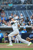 Brady McConnell (13) of the East Team bats against the West Team during the Perfect Game All American Classic at Petco Park on August 14, 2016 in San Diego, California. West Team defeated the East Team, 13-0. (Larry Goren/Four Seam Images)