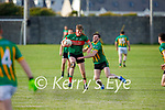 Lispoles Sean Kennedy attemtps to tackle Beales Diarmuis O'Mahony in the County Senior football league