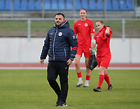 Head coach Tiziano Rutilo of Woluwe leaving the pitch at the end of the warm up before a female soccer game between FC Femina White Star Woluwe and Club Brugge YLA on the second matchday in the 2021 - 2022 season of Belgian Scooore Womens Super League , Friday 27 th of August 2021  in Woluwe , Belgium . PHOTO SPORTPIX | SEVIL OKTEM