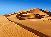 Sahara sand dunes of erg Chebbi, Morocco, Africa