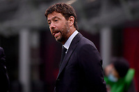 Juventus president Andrea Agnelli reacts prior to the Serie A football match between AC Milan and Juventus FC at stadio San Siro in Milan ( Italy ), July 7th, 2020. Play resumes behind closed doors following the outbreak of the coronavirus disease. <br /> Photo Federico Tardito / Insidefoto