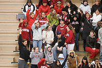 2 February 2008: Fans during Stanford's 90-69 win over Alabama-Birmingham at the Avery Aquatic Center in Stanford, CA.
