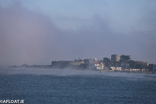 The scene in nearby Scotsman's Bay with a view of Sandycove Harbour