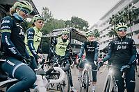 pre-training breefing<br /> <br /> Team Trek-Segafredo women's team<br /> training camp<br /> Mallorca, january 2019<br /> <br /> ©kramon