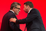 © Joel Goodman - 07973 332324 . 25/09/2016 . Liverpool , UK.  TOM WATSON and IAIN MCNICOL at the ACC in Liverpool Docks , on the first day of the Labour Party Conference . Photo credit : Joel Goodman