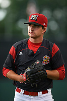 Batavia Muckdogs pitcher Sean Guenther (39) poses for a photo before a game against the Williamsport Crosscutters on August 3, 2017 at Dwyer Stadium in Batavia, New York.  Williamsport defeated Batavia 2-1.  (Mike Janes/Four Seam Images)