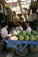 Watermelons in covered market, Diyarbakir, southeastern Turkey