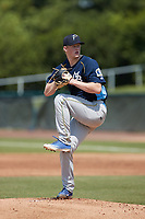 Myrtle Beach Pelicans starting pitcher Sam Thoresen (52) in action against the Lynchburg Hillcats at Bank of the James Stadium on May 23, 2021 in Lynchburg, Virginia. (Brian Westerholt/Four Seam Images)