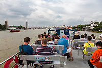 Bangkok, Thailand.  View from a Tourist Boat on the Chao Phraya River.