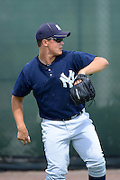 GCL Yankees 2 pitcher Tim Giel (72) during practice before a game against the GCL Phillies on July 22, 2013 at Carpenter Complex in Clearwater, Florida.  GCL Yankees defeated the GCL Phillies 2-1.  (Mike Janes/Four Seam Images)