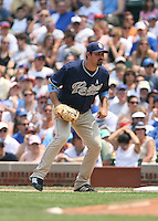 Adrian Gonzalez of the San Diego Padres vs. the Chicago Cubs: June 18th, 2007 at Wrigley Field in Chicago, IL.  Photo By Mike Janes/Four Seam Images