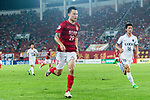 Guangzhou Forward Gao Lin (L) in action during the AFC Champions League 2017 Round of 16 match between Guangzhou Evergrande FC (CHN) vs Kashima Antlers (JPN) at the Tianhe Stadium on 23 May 2017 in Guangzhou, China. (Photo by Power Sport Images/Getty Images)
