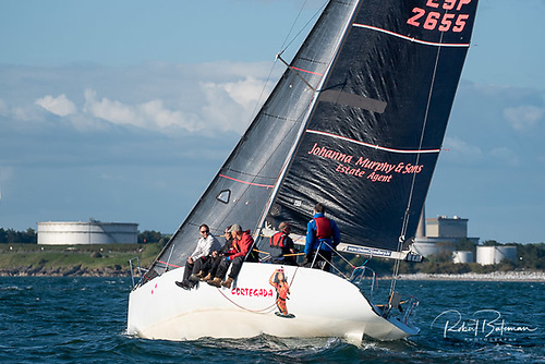 George Radley's Half Tonner Cortegda from Royal Cork Yacht Club and Cove Sailing Club, pictured above racing in June's Royal Cork League in Cork Harbour is entered for next week's 2021 Sovereign's Cup in Kinsale