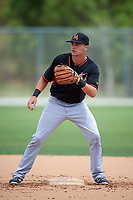 Miami Marlins Justin Bohn (13) during practice before a minor league Spring Training intrasquad game on March 31, 2016 at Roger Dean Sports Complex in Jupiter, Florida.  (Mike Janes/Four Seam Images)
