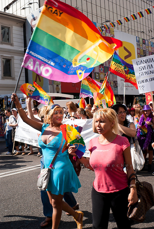 Milano, gay pride parade 2011 --- Milan, gay pride parade 2011