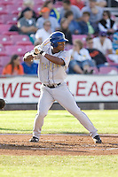 July 7, 2009: Tri-City Dust Devils' Orlando Sandoval at-bat during a Northwest League game against the Salem-Keizer Volcanoes at Volcanoes Stadium in Salem, Oregon.