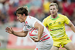 Australia vs England during the Day 2 of the HSBC Singapore Rugby Sevens as part of the World Rugby HSBC World Rugby Sevens Series 2016-17 at the National Stadium on 16 April 2017 in Singapore. Photo by Victor Fraile / Power Sport Images