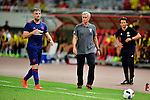 Manchester United defender Luke Shaw (l) during the International Champions Cup China 2016, match between Manchester United vs Borussia  Dortmund on 22 July 2016 held at the Shanghai Stadium in Shanghai, China. Photo by Marcio Machado / Power Sport Images