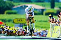 17th July 2021, St Emilian, Bordeaux, France;  VAN AVERMAET Greg (BEL) of AG2R CITROEN TEAM  during stage 20 of the 108th edition of the 2021 Tour de France cycling race, an individual time trial stage of 30,8 kms between Libourne and Saint-Emilion. on July 17, 2021 in Saint-Emilion, France, 17/07/2021