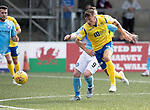 Forfar v St Johnstone….27.07.19      Station Park     Betfred Cup       <br />Ross Callachan and Andy Jackson<br />Picture by Graeme Hart. <br />Copyright Perthshire Picture Agency<br />Tel: 01738 623350  Mobile: 07990 594431