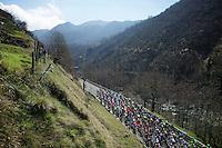 peloton on it's way to the Turchino Pass<br /> <br /> 107th Milano-Sanremo 2016