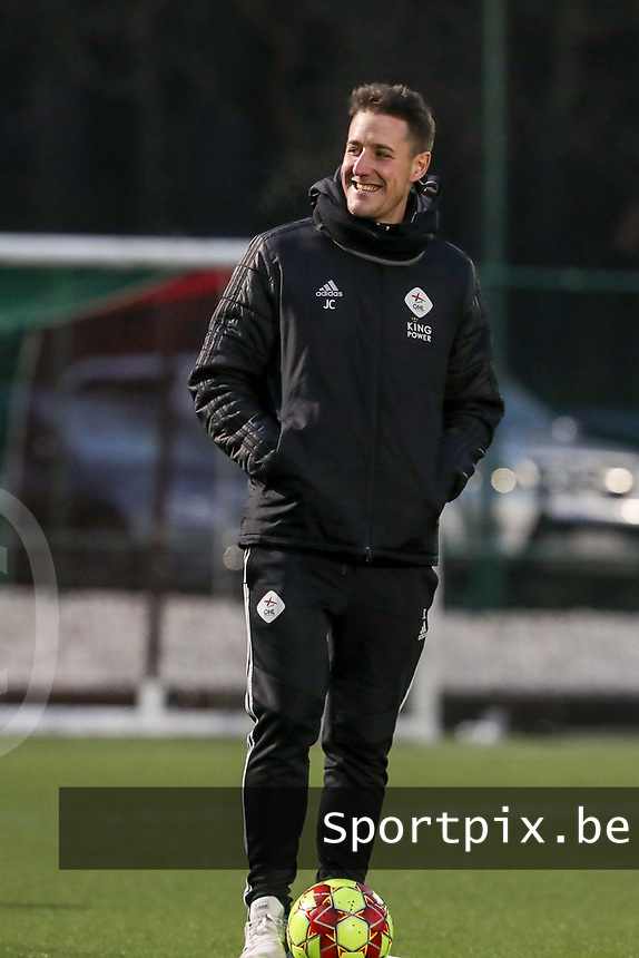 Head coach Jimmy Coenraets of OHL pictured before a female soccer game between Oud Heverlee Leuven and RSC Anderlecht on the 12 th matchday of the 2020 - 2021 season of Belgian Womens Super League , sunday 31 st of January 2021  in Heverlee , Belgium . PHOTO SPORTPIX.BE | SPP | SEVIL OKTEM